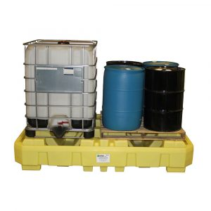 Double IBC Tote Spill Containment Dispensing Station Drum Containment Spill Pallet