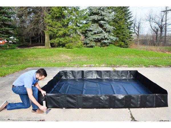 L-Bracket Spill Containment Berm Set-Up